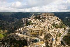 Paisaje urbano de Ragusa Ibla Imágenes de archivo libres de regalías