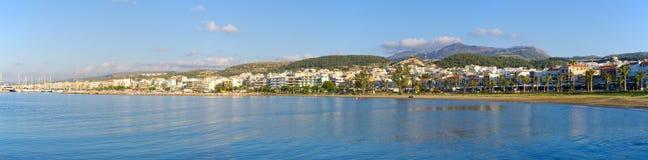 Paisaje urbano de Rethymno, Creta, Grecia imagen de archivo