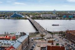 Paisaje urbano de Riga Fotografía de archivo libre de regalías