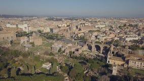 Paisaje urbano de Roma almacen de video