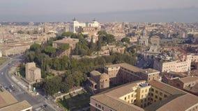 Paisaje urbano de Roma almacen de metraje de vídeo