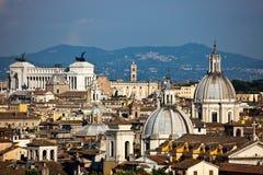 Paisaje urbano de Roma Fotografía de archivo libre de regalías