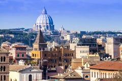 Paisaje urbano de Roma Imagen de archivo libre de regalías