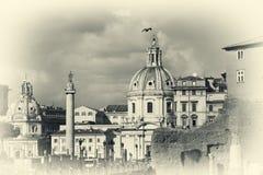 Paisaje urbano de Roma de capital italiana Imagen de archivo libre de regalías