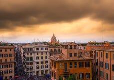 Paisaje urbano de Roma Italia Fotografía de archivo