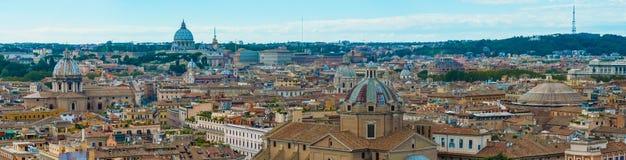 Paisaje urbano de Roma, visión panorámica Fotos de archivo