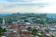 Paisaje urbano de Salento, Colombia imagen de archivo libre de regalías