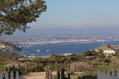 Paisaje urbano de San Diego del Point Loma Imagenes de archivo