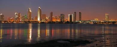 Paisaje urbano de San Diego panorámico Imágenes de archivo libres de regalías