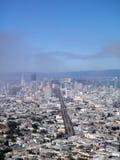 Paisaje urbano de San Francisco que mira abajo de la calle de mercado Fotografía de archivo