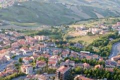Paisaje urbano de San Marino Foto de archivo libre de regalías