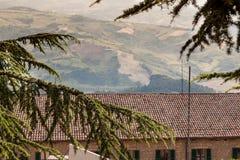 Paisaje urbano de San Marino Foto de archivo