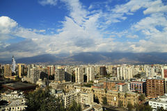 Paisaje urbano de Santiago Imágenes de archivo libres de regalías