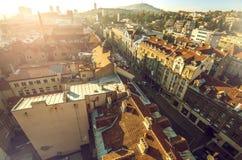 Paisaje urbano de Sarajevo Foto de archivo libre de regalías