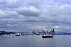 Paisaje urbano de Seattle Foto de archivo libre de regalías