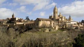 Paisaje urbano de Segovia foto de archivo