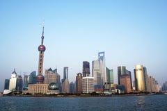 Paisaje urbano de Shangai Imágenes de archivo libres de regalías