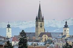 Paisaje urbano de Sibiu Imagen de archivo libre de regalías