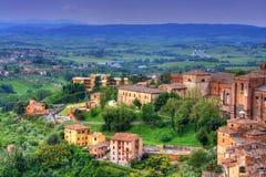 Paisaje urbano de Siena (Toscana - Italia) Imágenes de archivo libres de regalías