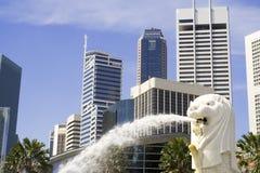 Paisaje urbano de Singapur Fotografía de archivo libre de regalías
