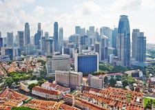 Paisaje urbano de Singapur Fotos de archivo