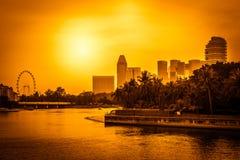 Paisaje urbano de Singapur Fotos de archivo libres de regalías