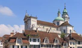 Paisaje urbano de Solothurn Imagen de archivo libre de regalías