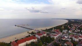 Paisaje urbano de Sopot, visión desde arriba metrajes