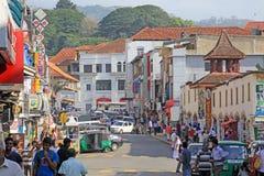 Paisaje urbano de Sri Lanka Kandy imagen de archivo