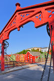 Paisaje urbano de Strondheim, Noruega Fotografía de archivo libre de regalías