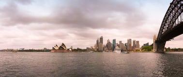 Paisaje urbano de Sydney Imágenes de archivo libres de regalías