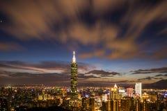 Paisaje urbano de Taipei 101 Fotos de archivo libres de regalías