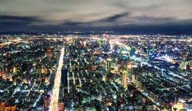 Paisaje urbano de Taipei desde arriba en la noche Fotografía de archivo libre de regalías