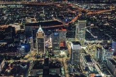 Paisaje urbano de Taipei desde arriba en la noche Imagen de archivo