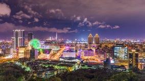 Paisaje urbano de Taipei, Taiwán almacen de metraje de vídeo