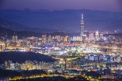 Paisaje urbano de Taipei, Taiwán Foto de archivo libre de regalías