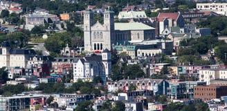 Paisaje urbano de Terranova de St John imagen de archivo