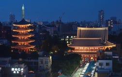 Paisaje urbano de Tokio Imágenes de archivo libres de regalías