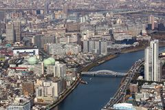 Paisaje urbano de Tokio imagenes de archivo