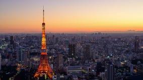 Paisaje urbano de Tokio, Japón almacen de metraje de vídeo