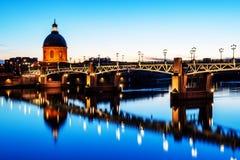 Paisaje urbano de Toulouse Imagen de archivo libre de regalías