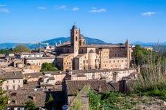Paisaje urbano de Urbino en Italia Imagen de archivo