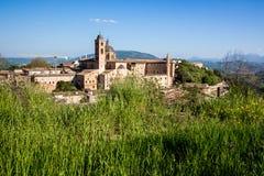 Paisaje urbano de Urbino en Italia Imagenes de archivo