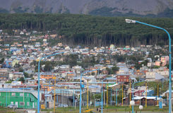 Paisaje urbano de Ushuaia Fotos de archivo