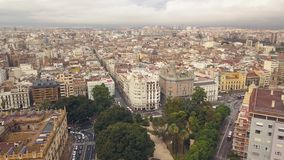 Paisaje urbano de Valencia almacen de metraje de vídeo