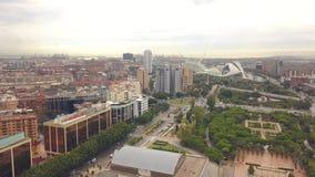Paisaje urbano de Valencia almacen de video
