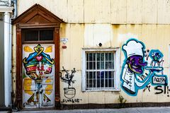 Paisaje urbano de Valparaiso, Chile imagen de archivo