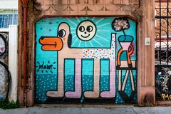 Paisaje urbano de Valparaiso, Chile imagen de archivo libre de regalías