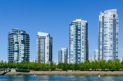 """Paisaje urbano de Vancouver, Columbia Británica, †""""False Creek de Canadá Imagen de archivo libre de regalías"""