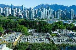 """Paisaje urbano de Vancouver, Columbia Británica, †""""False Creek de Canadá Fotos de archivo libres de regalías"""